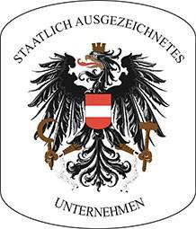 offizielles Wappen für staatlich ausgeteichnete Unternehmen