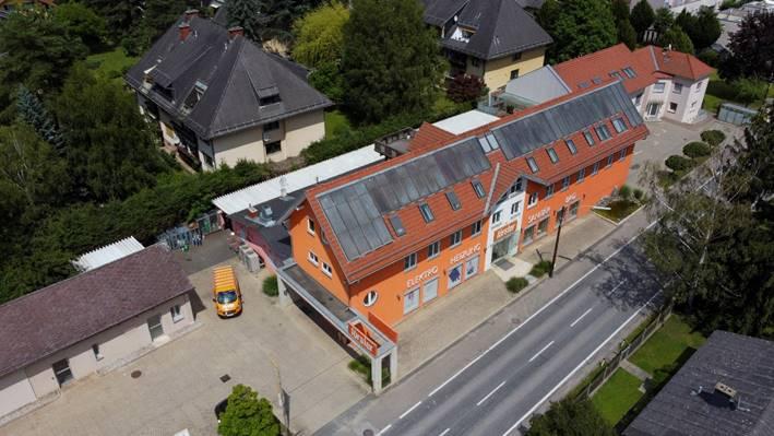 Drohnenaufnahme des Förster Firmengeländes in Graz-Andritz